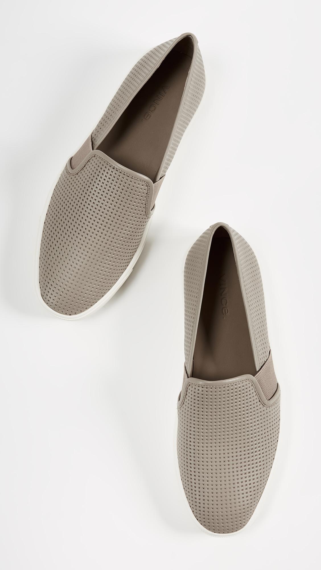 Vince Blair Slip On Sneakers Shopbop D Island Shoes British Comfort Leather Dark Brown