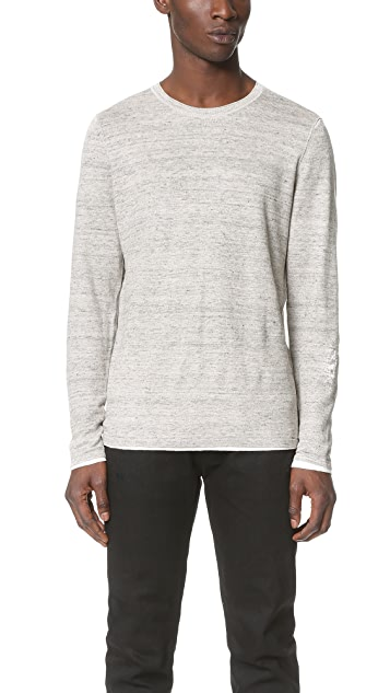 Vince Linen Double Layer Crew Sweater