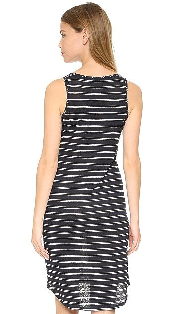 Vince Double Stripe Tank Dress