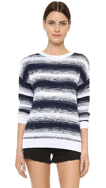 Vince Ombre Stripe Pullover Sweater