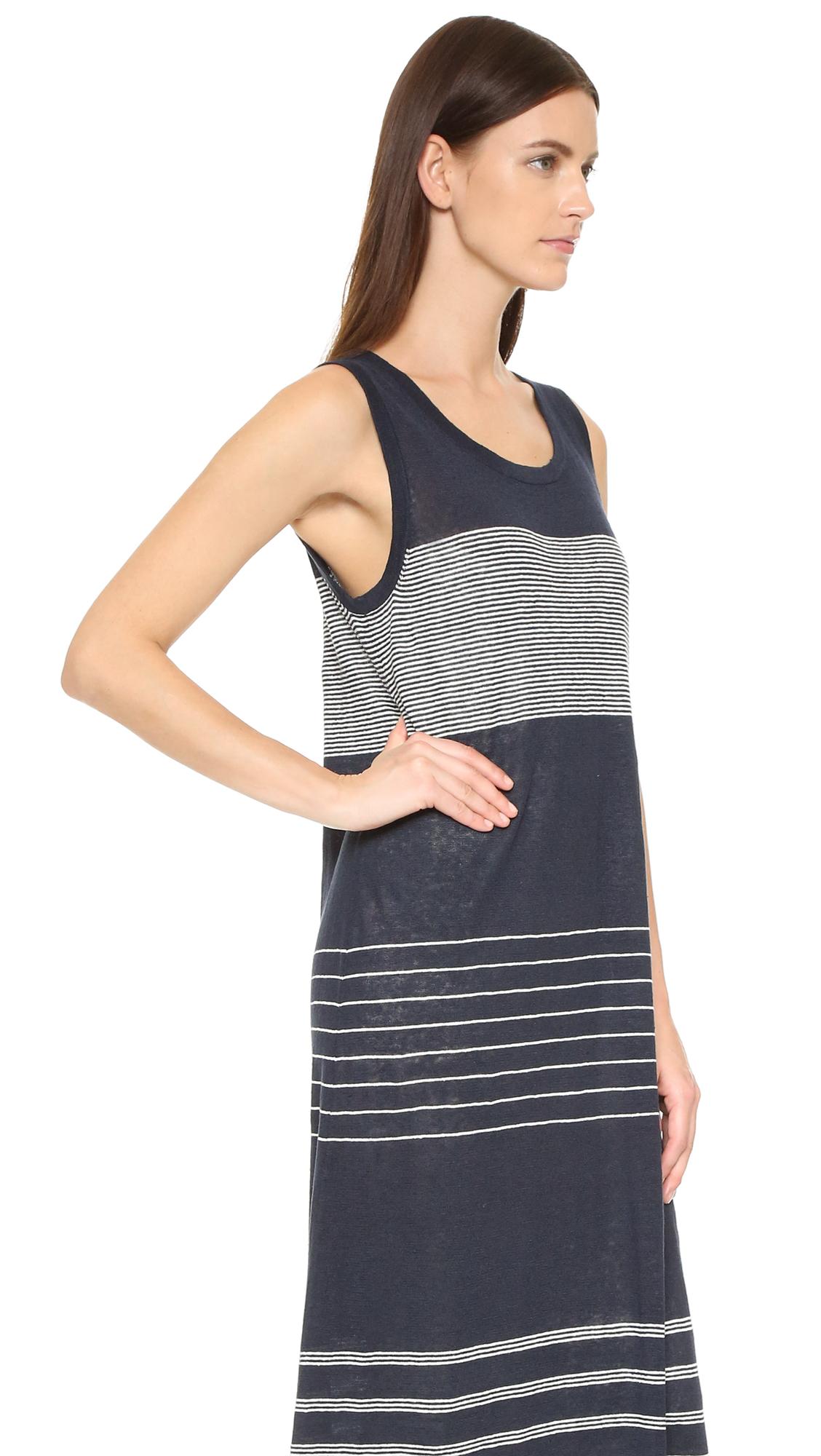 d4a0ec41f9 Vince Striped Linen Tank Dress