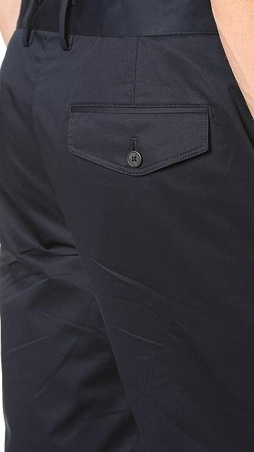 Vince Cotton Sateen Urban Shorts