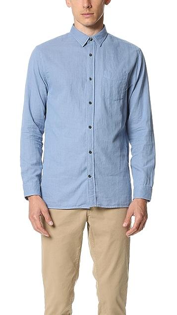 Vince Double Weave Square Hem Melrose Shirt