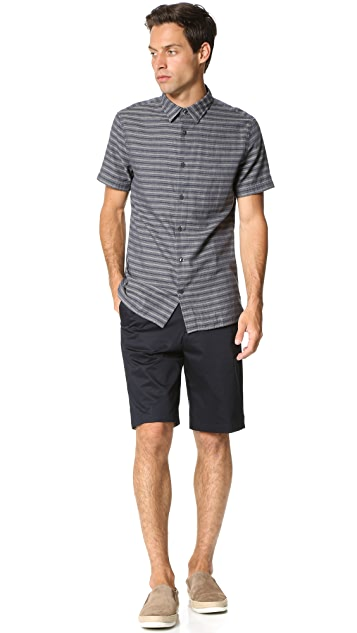 Vince Square Hem Short Sleeve Melrose Shirt