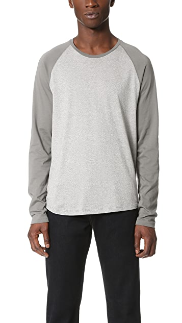 Vince Modern Mouline Long Sleeve Baseball Tee