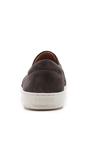 Vince Ace Woven Suede Slip Ons