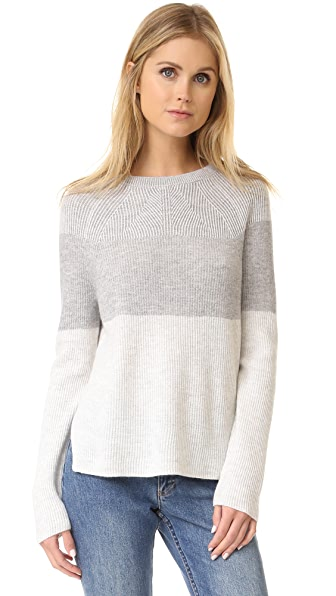 Vince Colorblock Ribbed Sweater