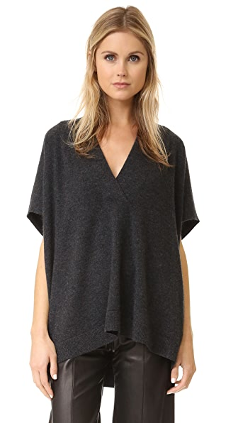 Vince Short Sleeve Oversized Sweater - H. Carbon at Shopbop