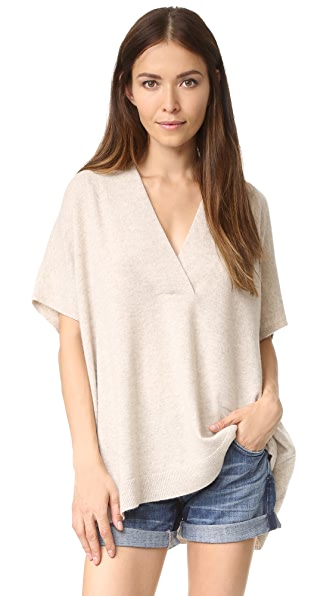 Vince Short Sleeve Oversized Sweater - Lt H Marzipan at Shopbop