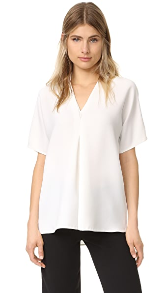 Vince Double V Blouse - Off White at Shopbop