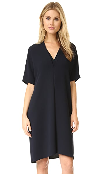 Vince Elbow Sleeve Double V Dress - Coastal at Shopbop