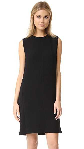Vince Sleeveless Shift Dress - Black at Shopbop