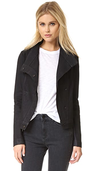 Vince Coated Denim Jacket - Black at Shopbop