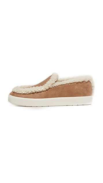 Vince Carlen Shearling Slip On Sneakers