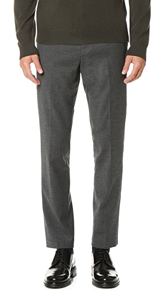 Vince Wool Flannel Slim Trousers