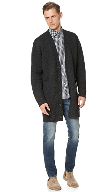 Vince Wool Cardigan Coat