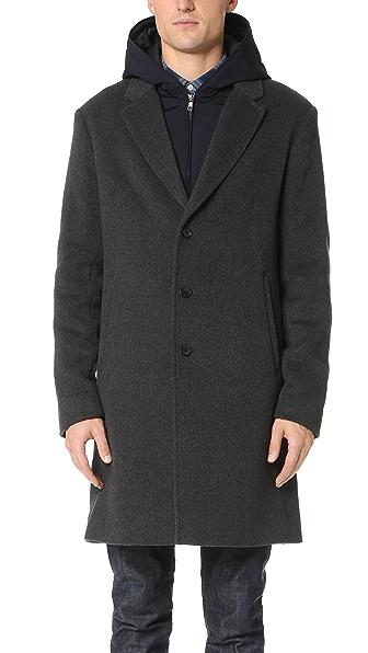 Vince Wool Melton 2 in 1 Storm Coat