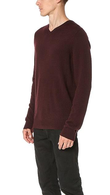 Vince Cashmere Essentials V Neck Sweater