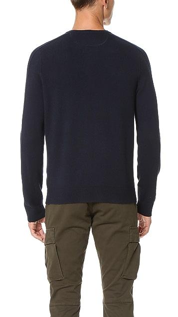 Vince Cashmere Essentials Henley Sweater
