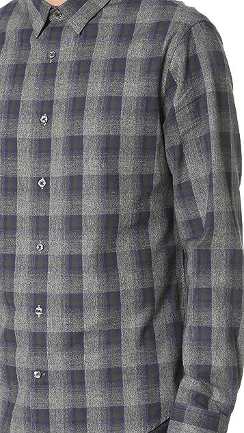 Vince Ombre Plaid Shirt
