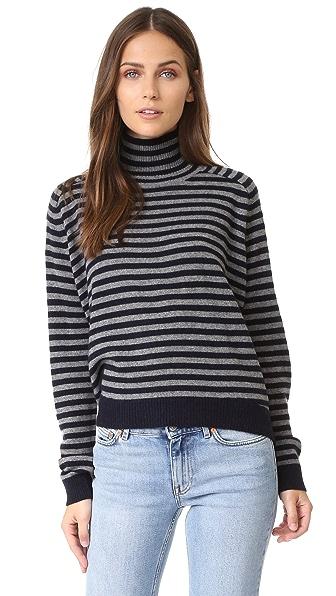 Vince Breton Stripe Cashmere Sweater - Coastal/H Stone