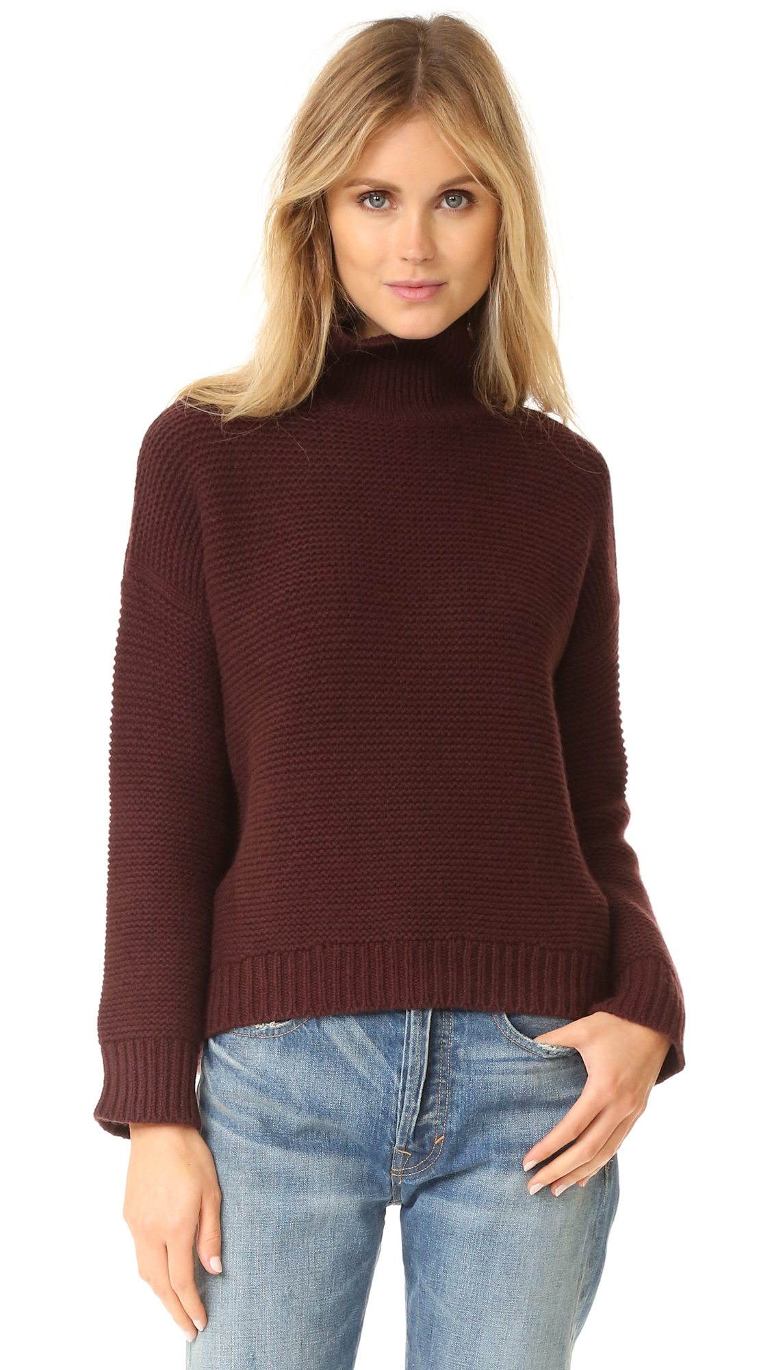 Vince Cowl Horizontal Rib Sweater | SHOPBOP