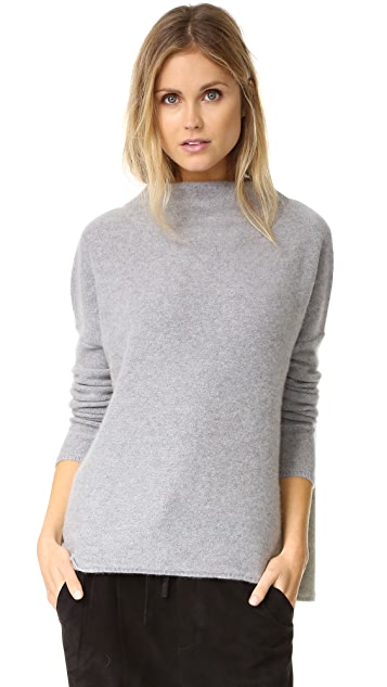 Vince Boiled Cashmere Funnel Neck Sweater