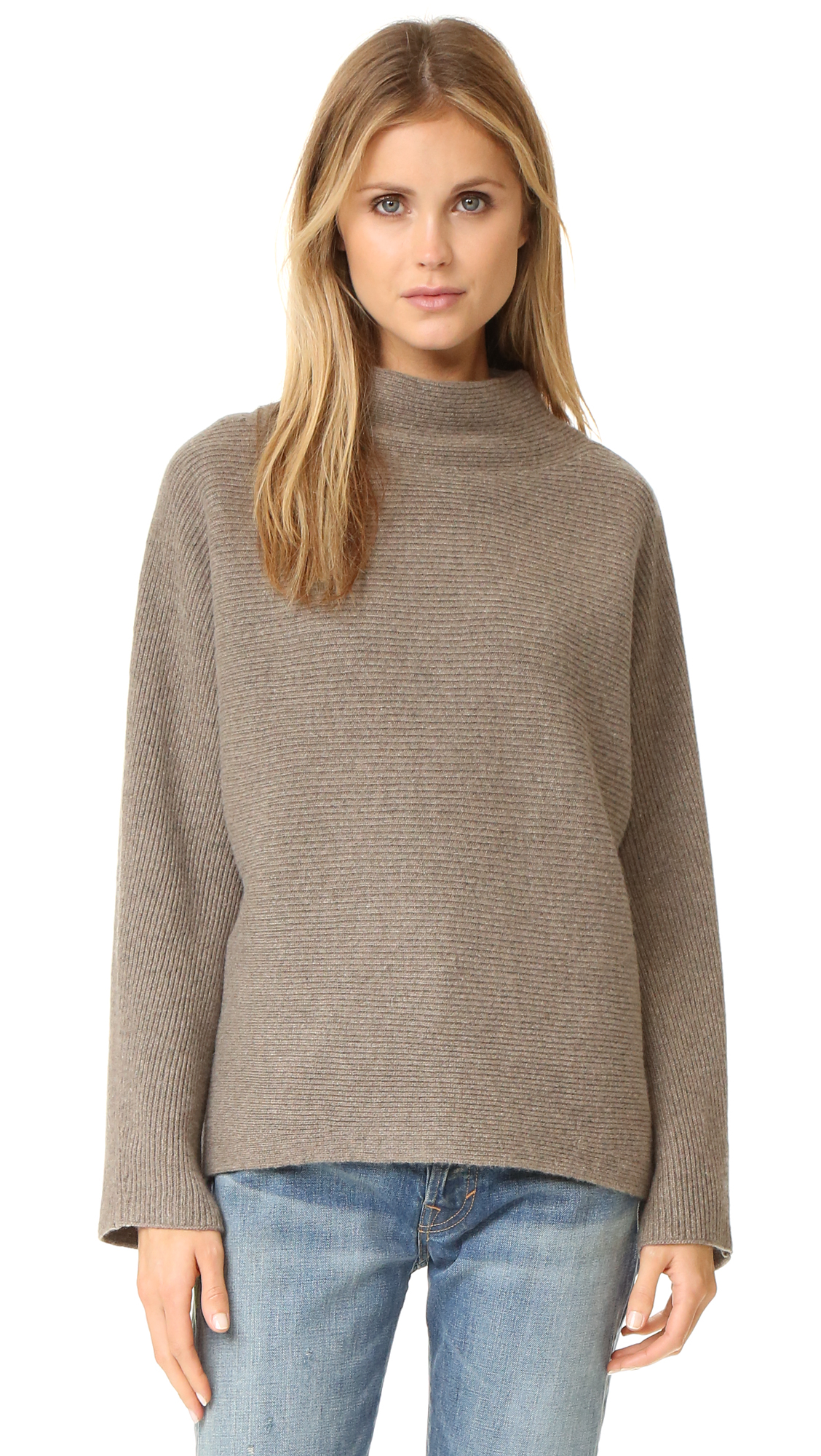 Vince Cropped Horizontal Rib Sweater | SHOPBOP