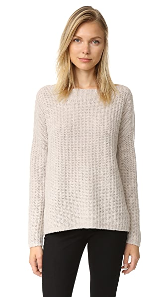 Vince Ladder Stitch Funnel Sweater