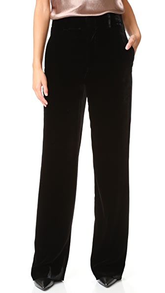 Vince Velvet Wide Leg Trousers