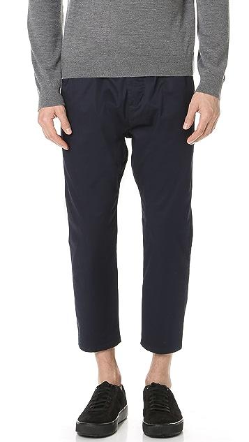 Vince Drop Rise Cropped Drawstring Pants