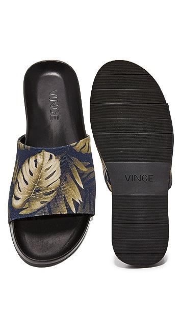 Vince Wasco Printed Palm Slides