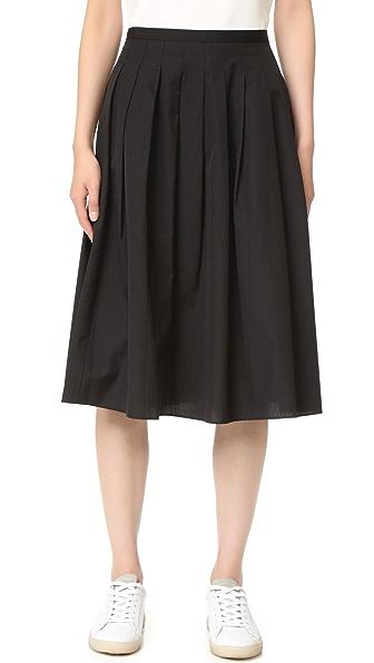 Vince Multi Pleated Skirt