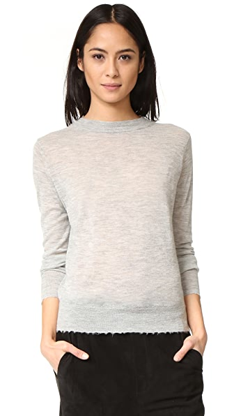 Vince Distressed Trim Cashmere Sweater