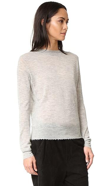 Vince Distressed Trim Cashmere Sweater
