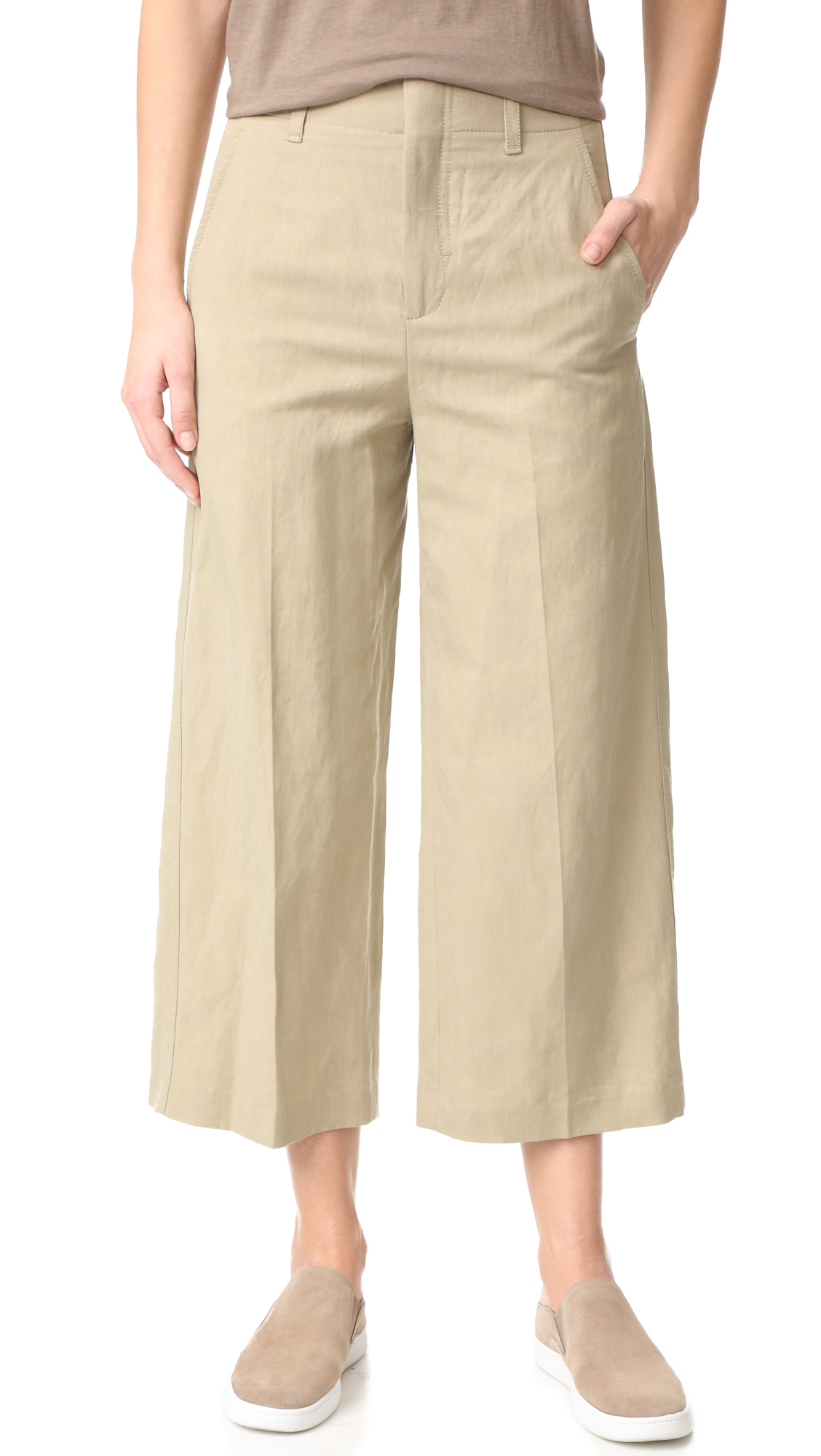 Vince High Waisted Crop Pants - Mushroom at Shopbop