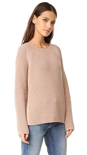 Vince Waffle Stitch Crew Pullover
