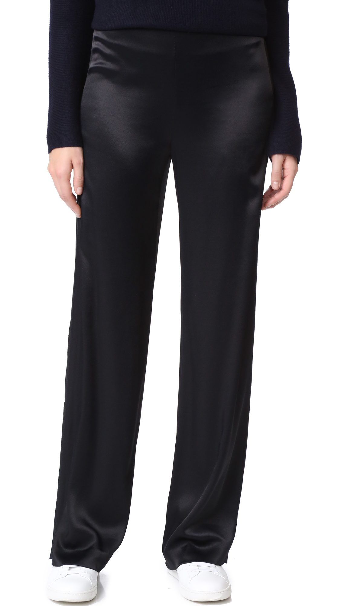 Vince Fluid Wide Leg Pants - Black at Shopbop