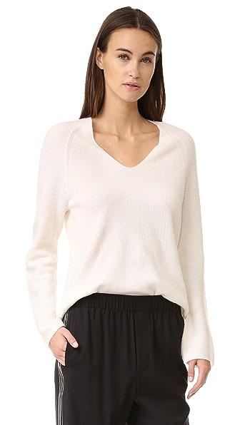 Vince Deep V Cashmere Sweater