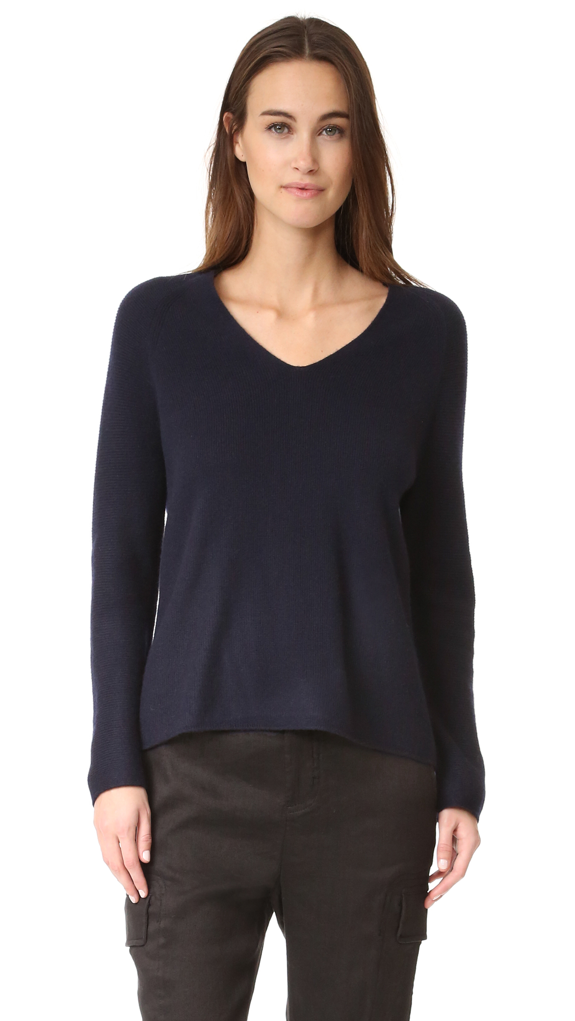 Vince Deep V Cashmere Sweater - Coastal at Shopbop