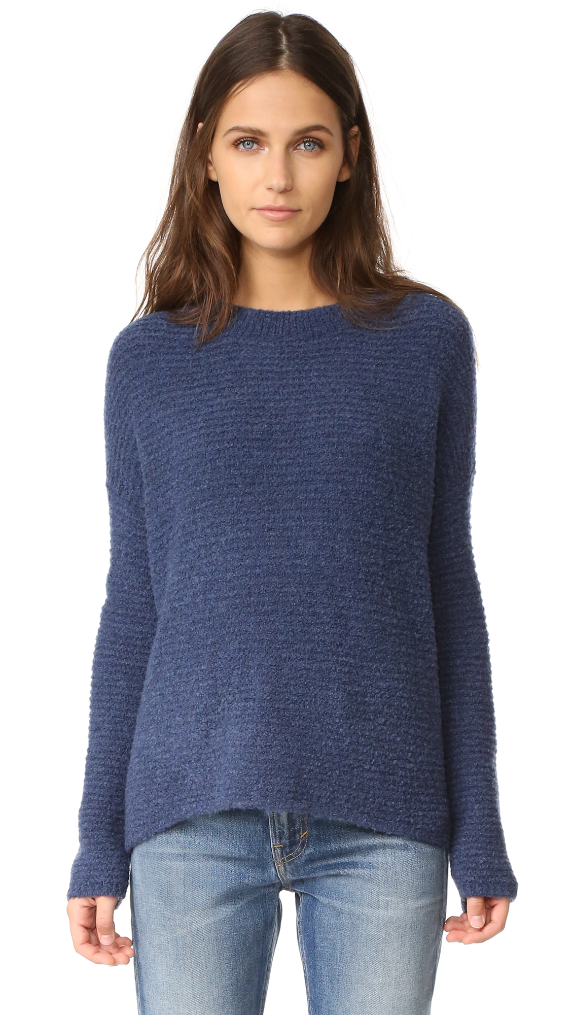 Vince Oversized Crew Sweater - H. Blue at Shopbop