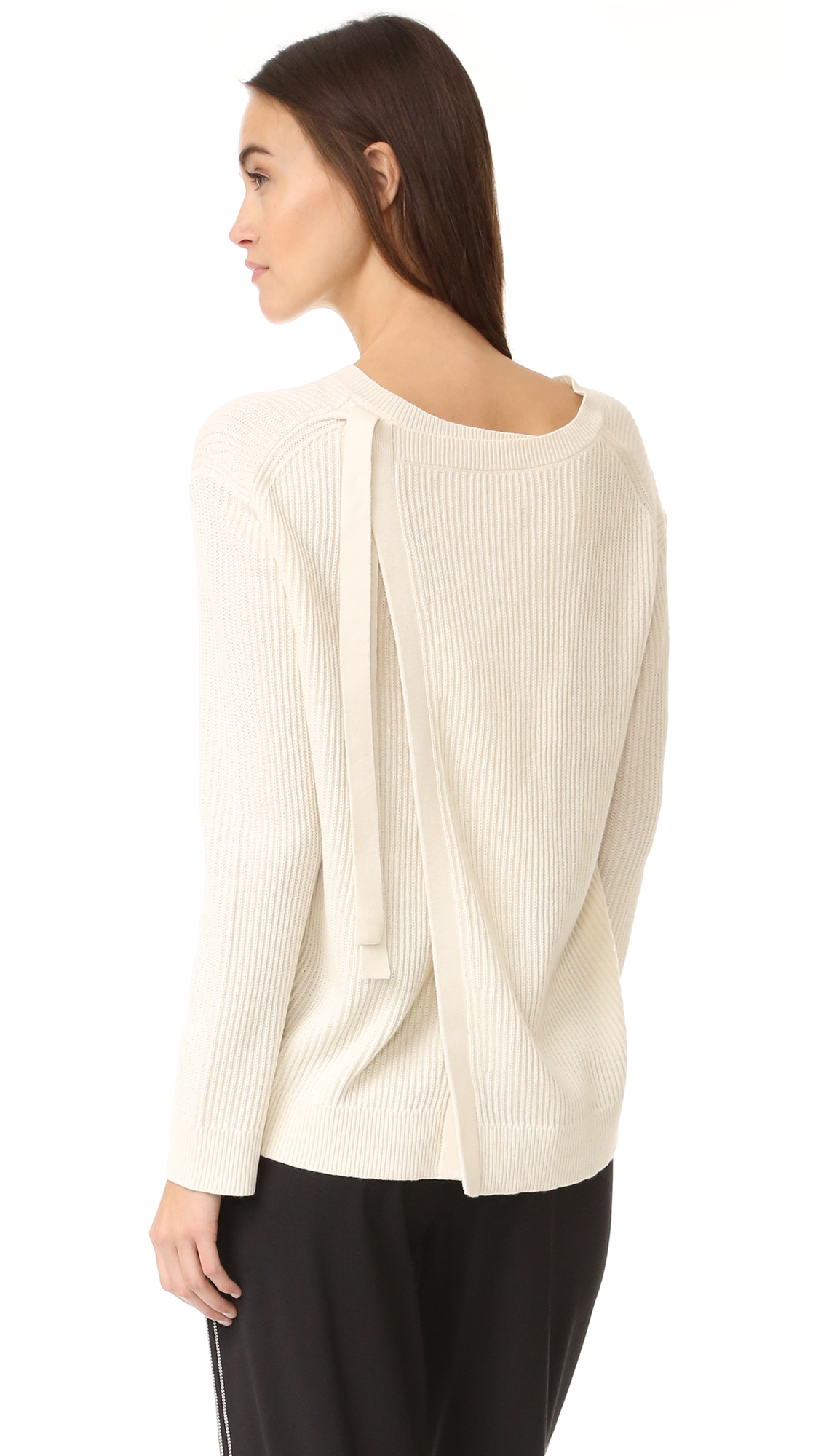 Vince Slit Back Sweater - Off White at Shopbop