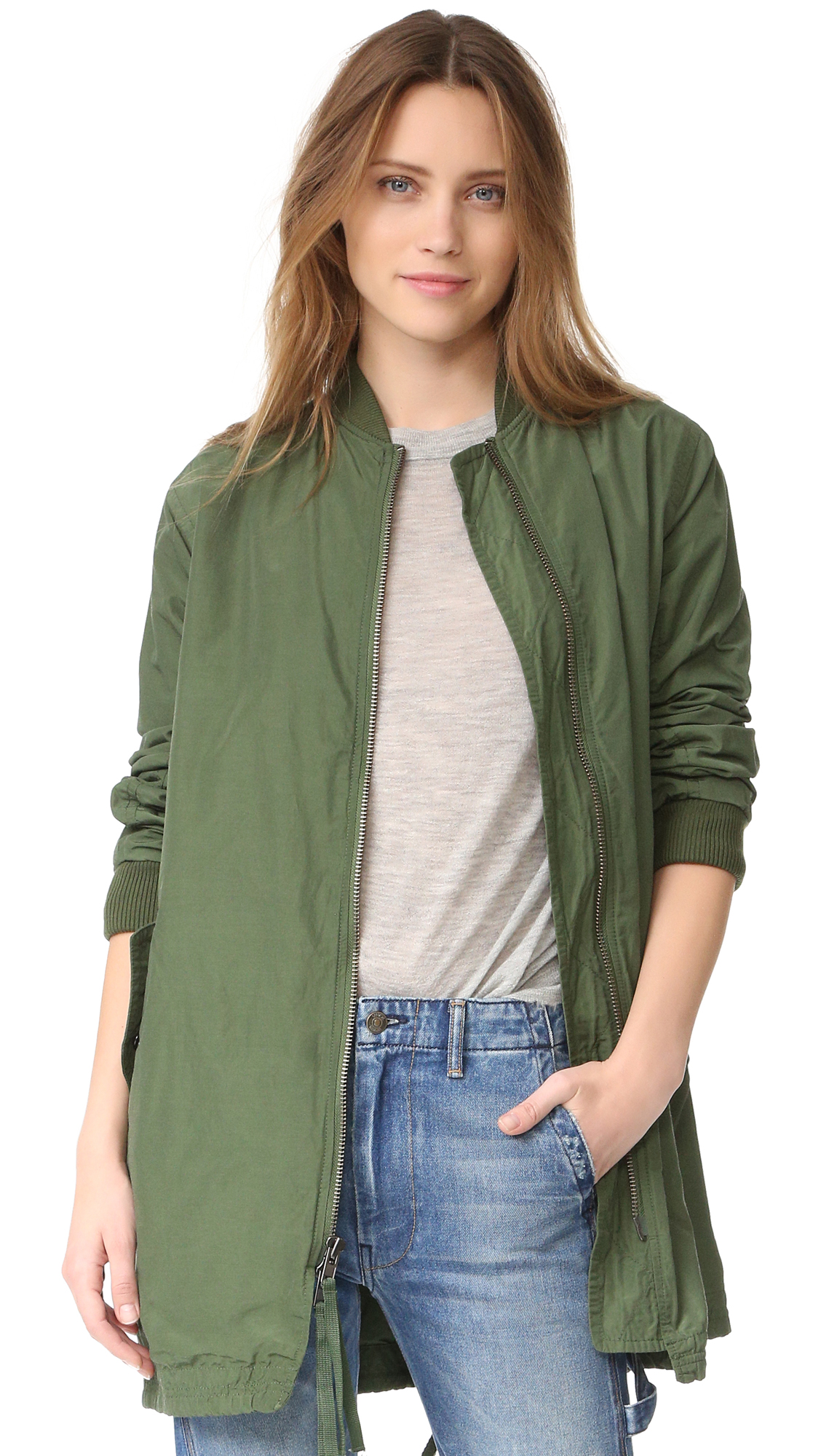 Vince Oversized Bomber Jacket - Ivy at Shopbop