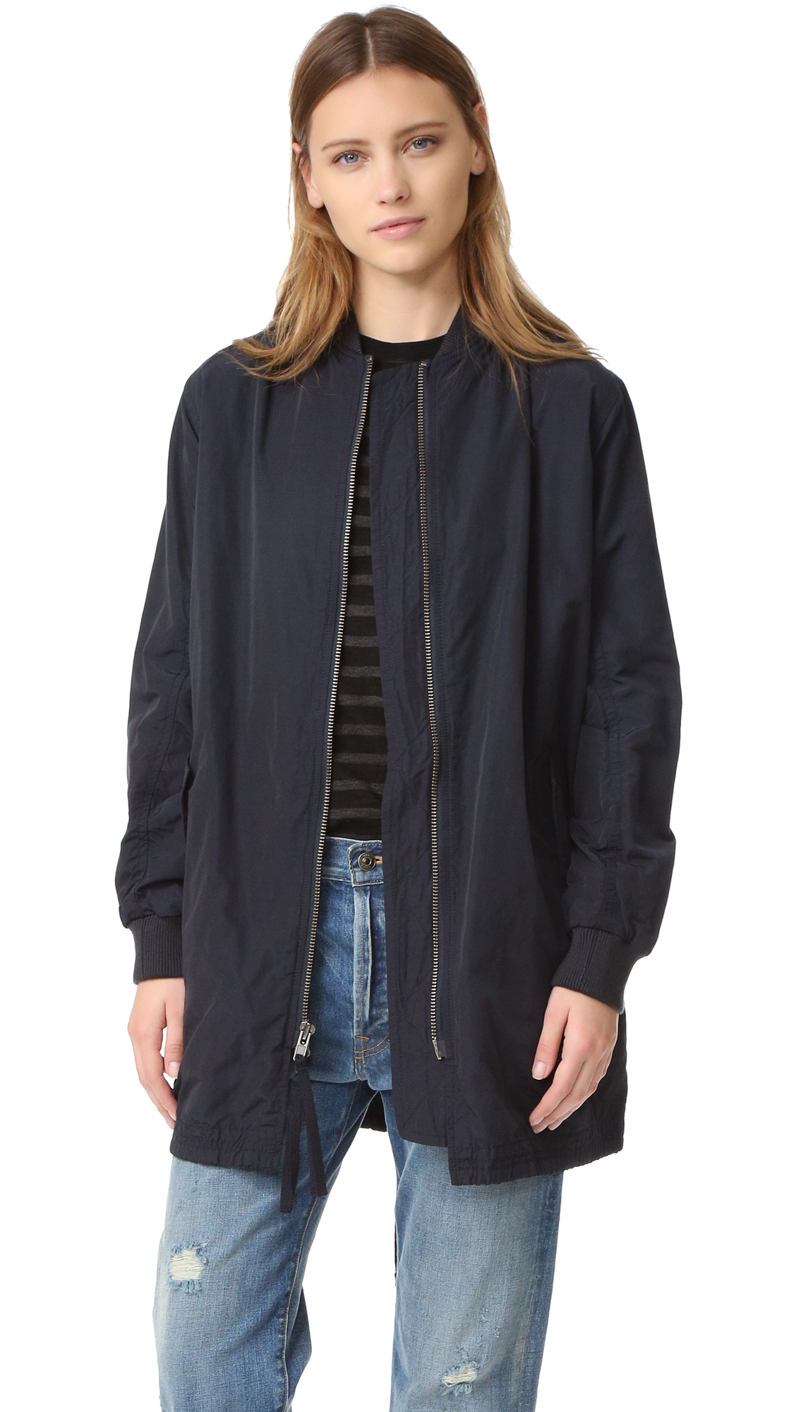 Vince Oversized Bomber Jacket - Coastal at Shopbop