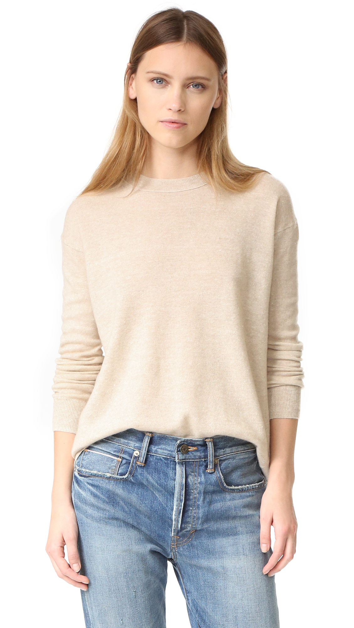 Vince Boxy Sweater - H. Tan at Shopbop