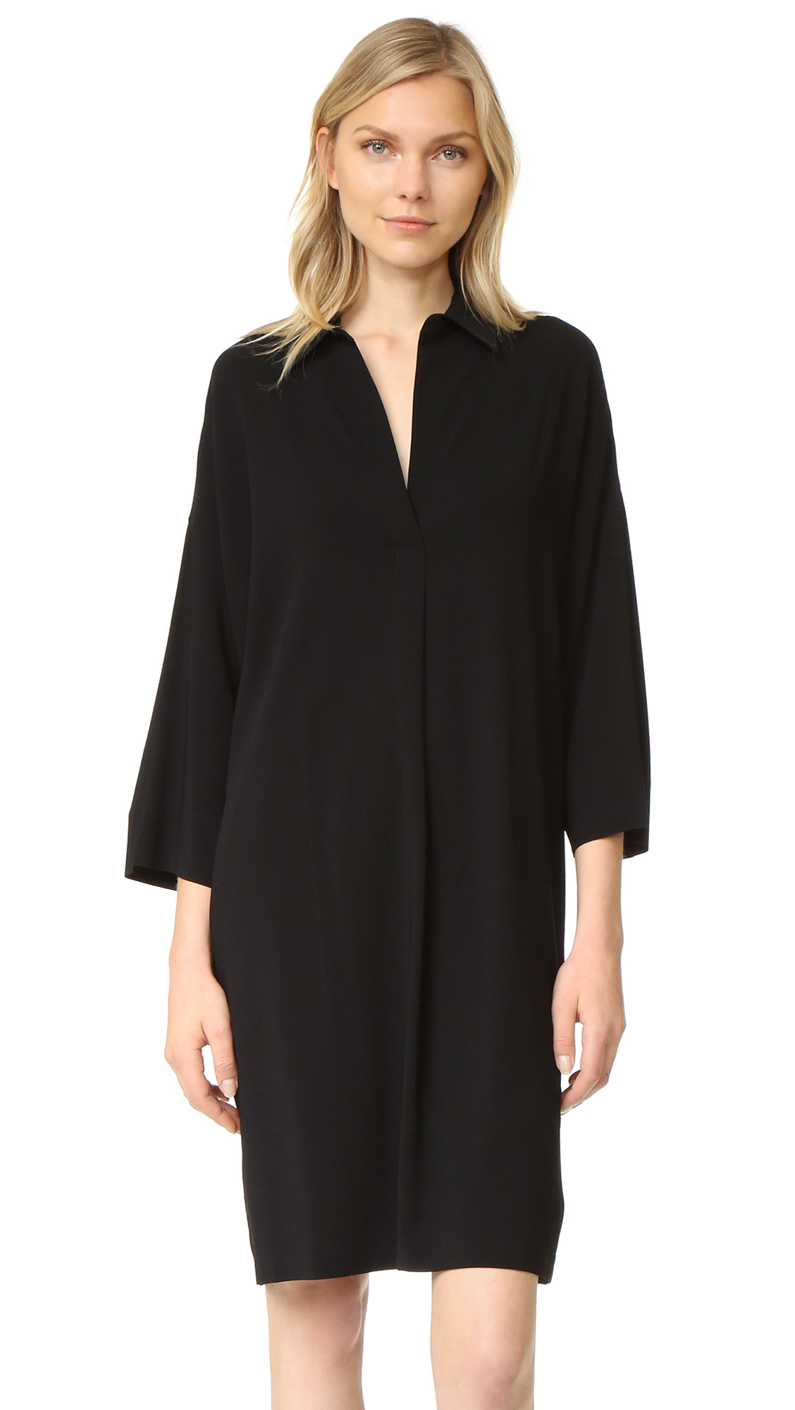 Vince Easy Pullover Dress - Black at Shopbop