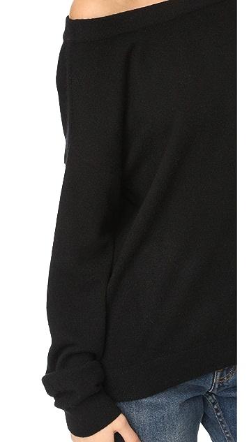 Vince Off Shoulder Cashmere Sweater