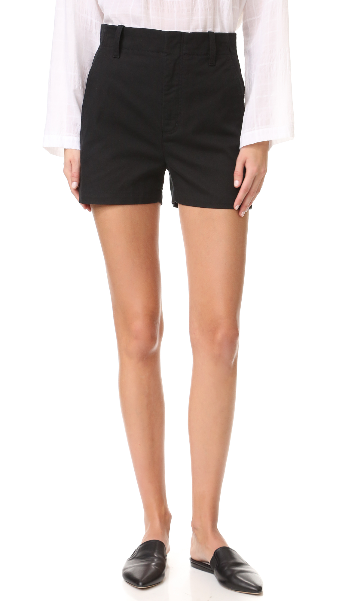 Vince High Waist Shorts - Black at Shopbop
