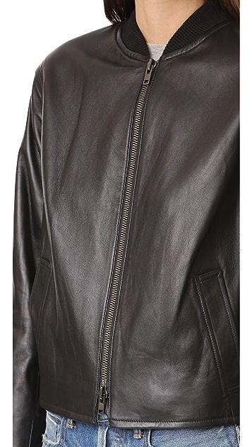 Vince Drop Shoulder Bomber Jacket