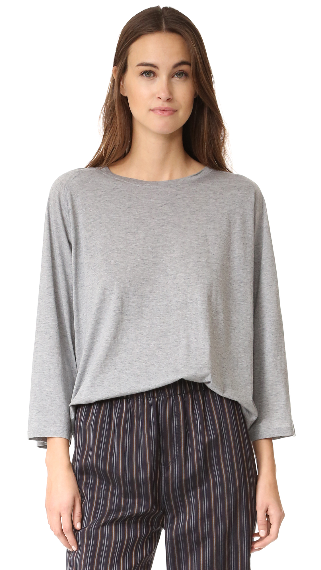 Vince Full Sleeve Raglan Tee - H. Grey at Shopbop